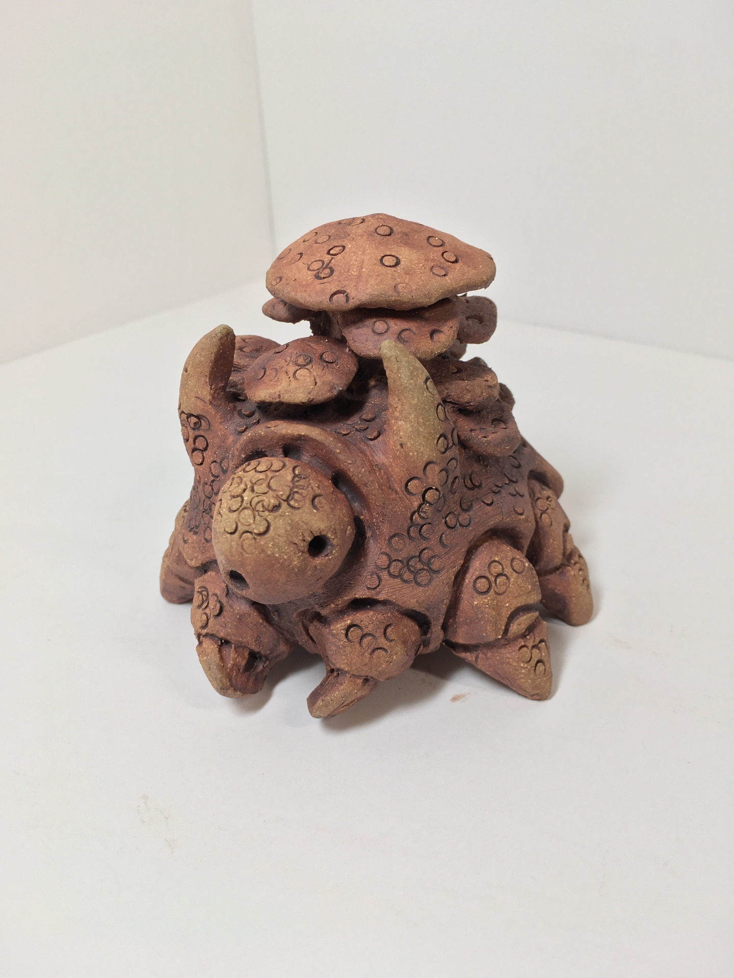 handmade pottery sculpture, by zack rudy, fantasy creature, science fiction creature, stoneware clay, mystic realm